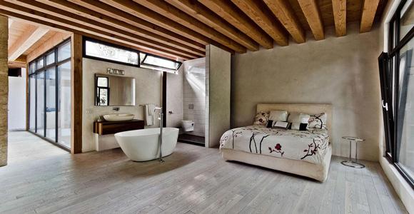 profiter dune salle de bain ouverte sur la chambre