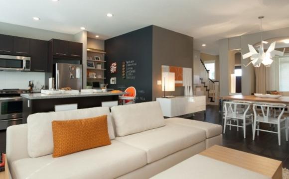 Salon et cuisine, le même espace