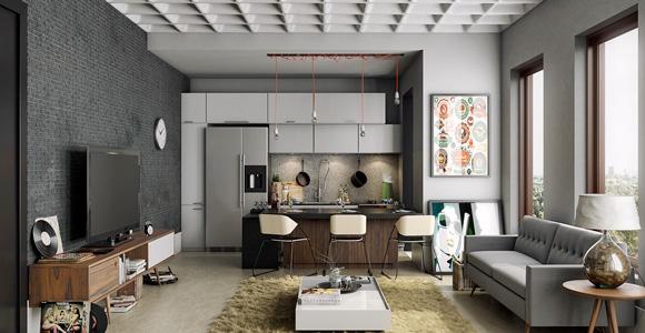 S paration entre cuisine et salon quelle cloison envisager - Separation entre cuisine et salon ...