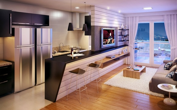 Séparer la cuisine du salon définitivement