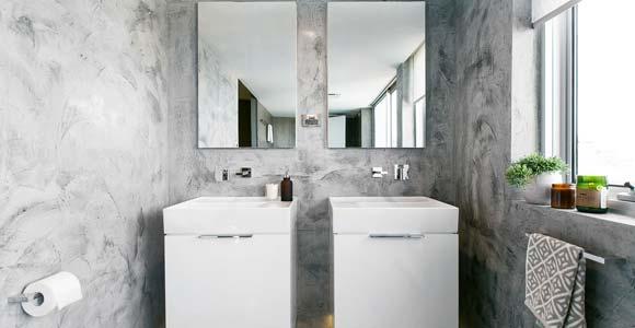 tadelakt dans une salle de bain nos conseils pour bien choisir. Black Bedroom Furniture Sets. Home Design Ideas