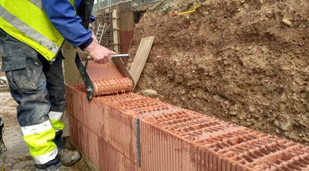 Coût de construction d'un mur en brique monomur