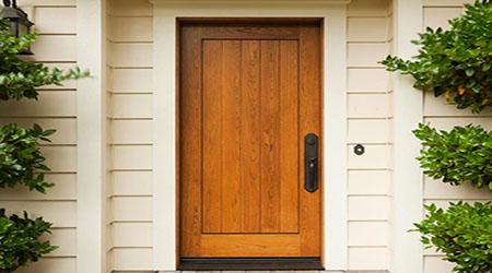 Prix d 39 une porte d 39 entr e bois co t moyen tarif de pose - Pose d une porte ...